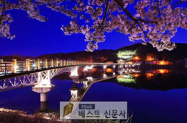 안동시, 월영교 일대 야경 조성으로 관광객 몰이 나서2(월영교).jpg